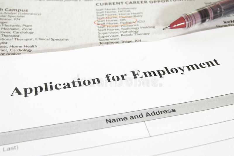 Download Employment Application Stock Photography - Image: 24449402
