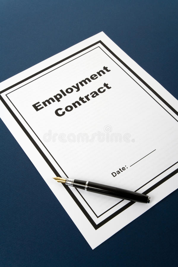 Free Employment Contract Royalty Free Stock Photography - 10273167