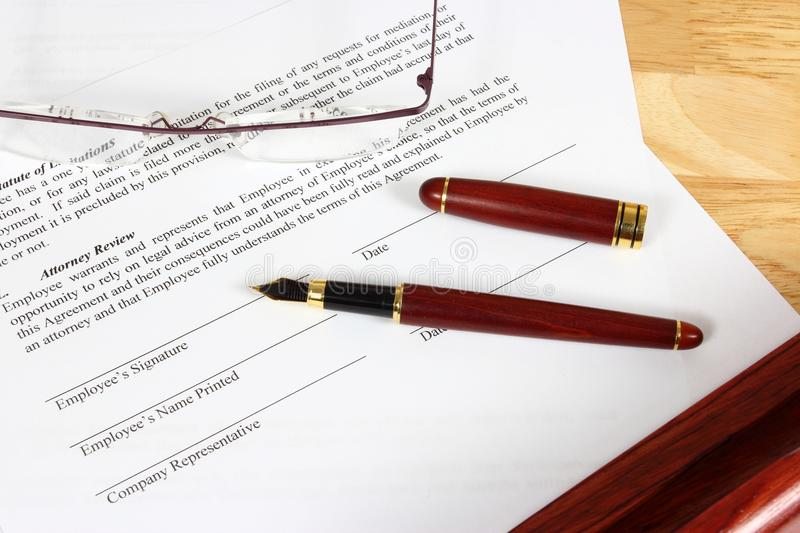 Employment Contract Stock Images