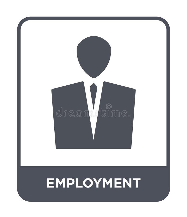 Employment icon in trendy design style. employment icon isolated on white background. employment vector icon simple and modern. Flat symbol for web site, mobile royalty free illustration