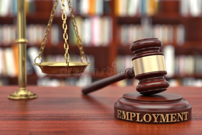 Employment law royalty free stock image