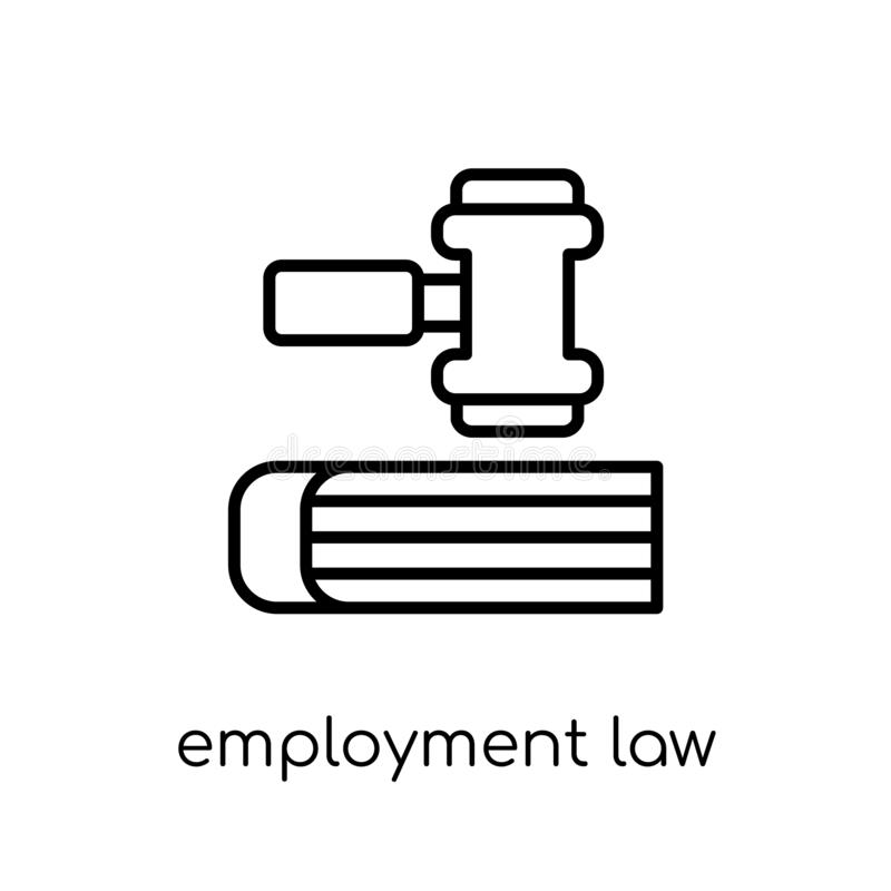 Employment law icon. Trendy modern flat linear vector employment. Law icon on white background from thin line law and justice collection, editable outline stock illustration