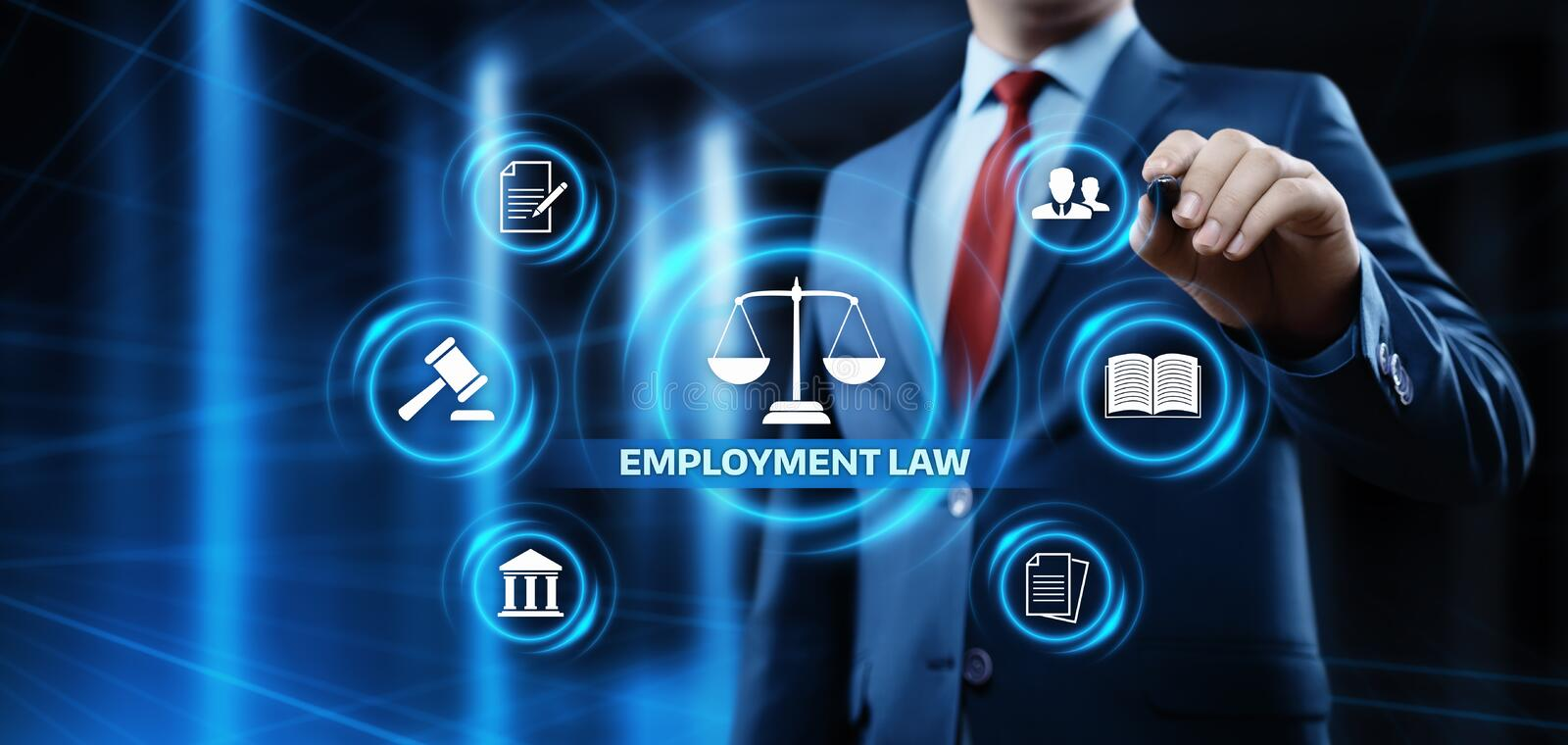 Employment Law Legal Rules Lawyer Business Concept.  stock images