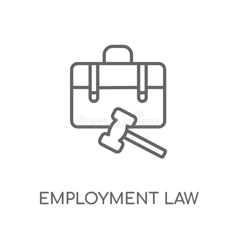 Employment law linear icon. Modern outline employment law logo c. Oncept on white background from law and justice collection. Suitable for use on web apps vector illustration