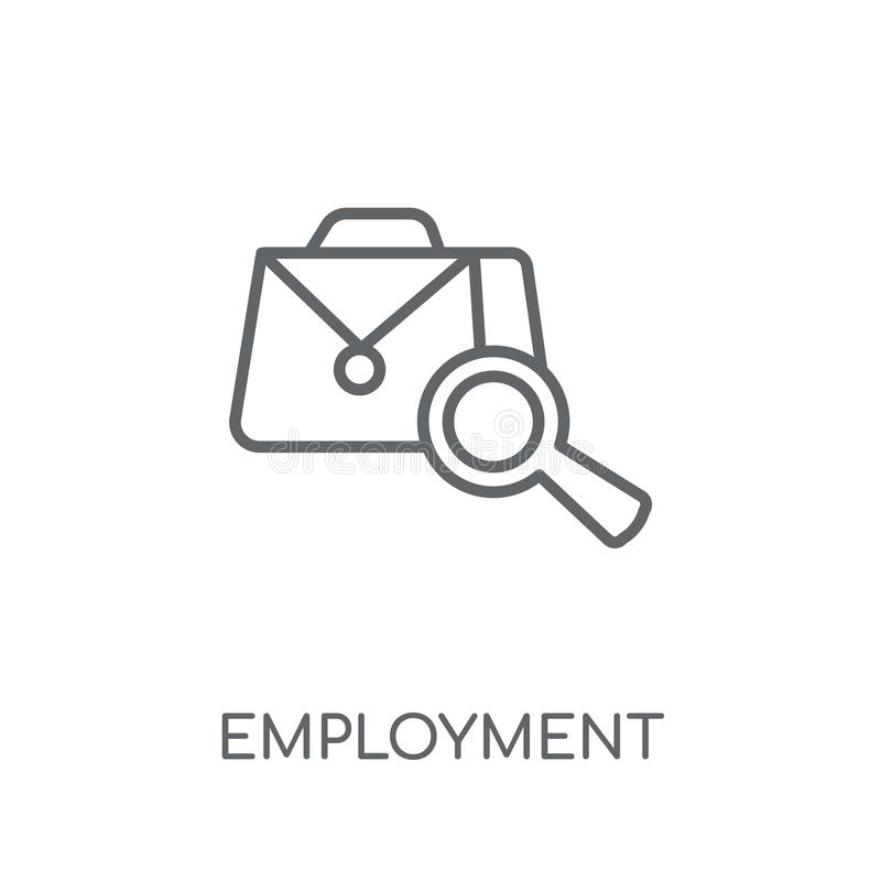 Employment linear icon. Modern outline Employment logo concept o. N white background from law and justice collection. Suitable for use on web apps, mobile apps vector illustration