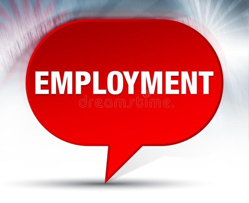 Employment Red Bubble Background. Employment on Red Bubble Background vector illustration