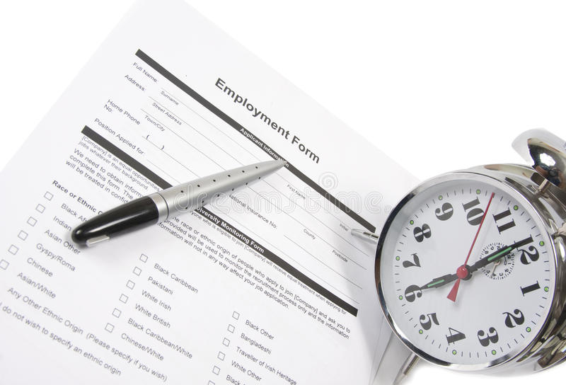 Download Employment Test stock image. Image of hour, assigning - 15880041