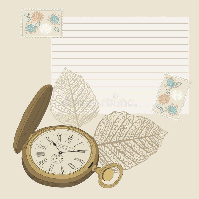 Empochez la montre illustration de vecteur