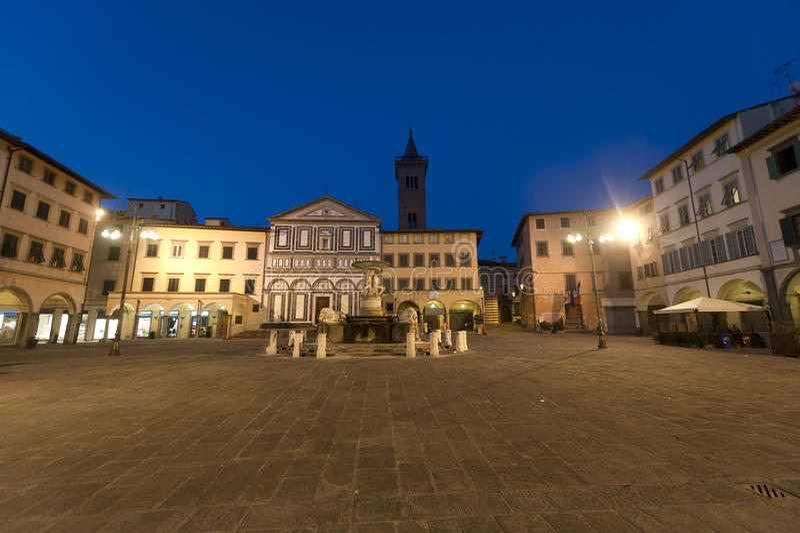 Empoli (Florencia), cuadrado principal fotos de archivo libres de regalías