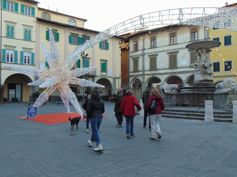 Empoli, Toscanië, Italië Farinata degli Uberti-vierkant bij zonsondergang royalty-vrije stock afbeeldingen