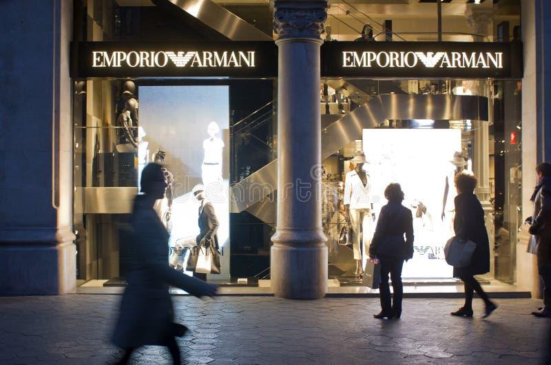 Emporio Armani Store Editorial Stock Photo