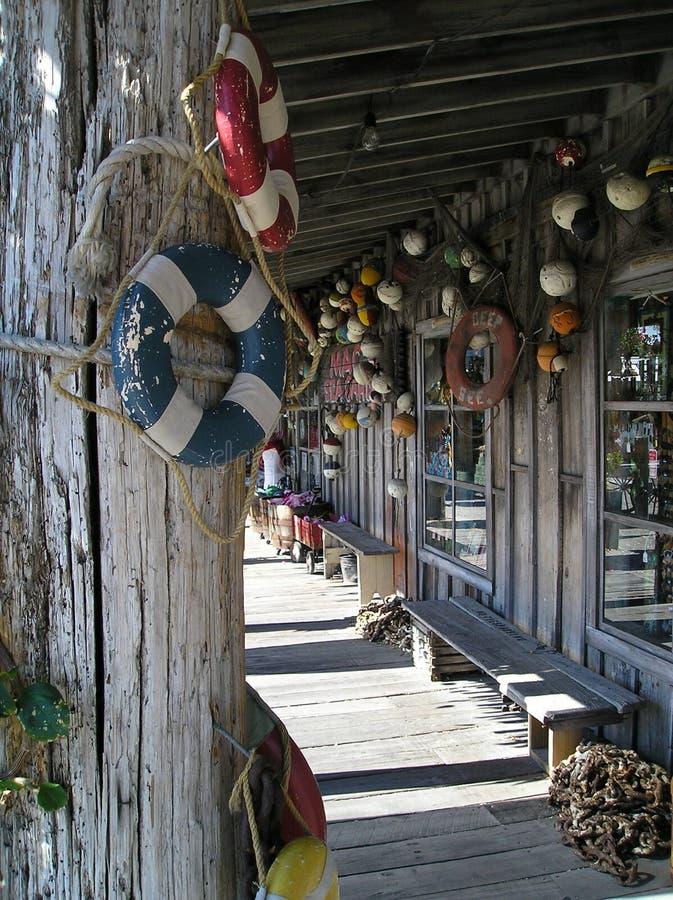 Emporium för souvenir av havet royaltyfria foton