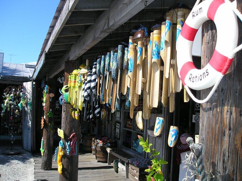 Emporium för souvenir av havslivspararen arkivbild