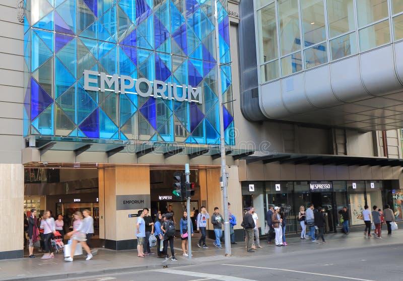 Emporium Melbourne som shoppar Australien arkivbilder