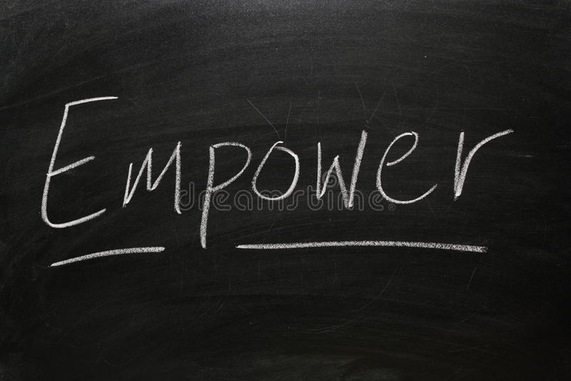 Empower stock image