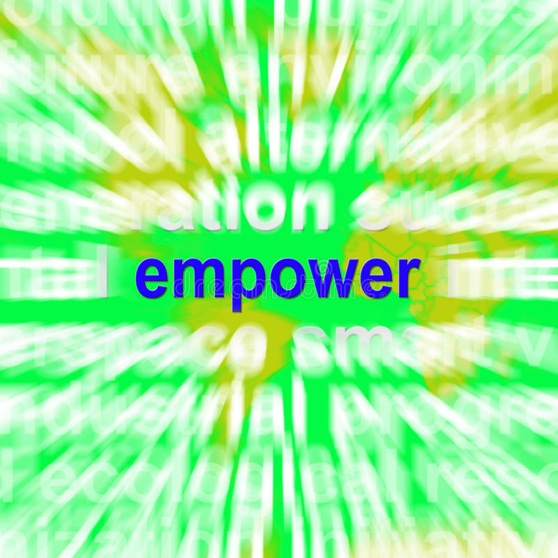 Empower Word Cloud Means Encourage Empowerment vector illustration