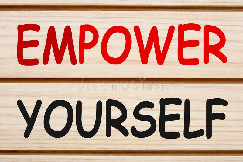 Empower Yourself Concept royalty free stock image