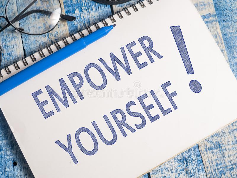 Empower Yourself, Motivational Business Words Quotes Concept stock images