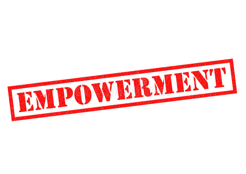 EMPOWERMENT. Red Rubber Stamp over a white background royalty free illustration