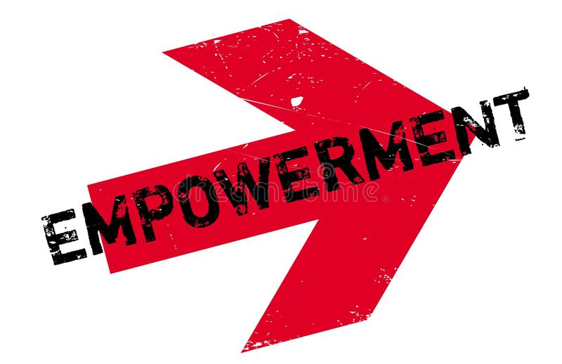 Empowerment rubber stamp. Grunge design with dust scratches. Effects can be easily removed for a clean, crisp look. Color is easily changed stock illustration