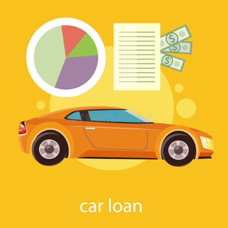 Empréstimo automóvel aprovado ilustração do vetor