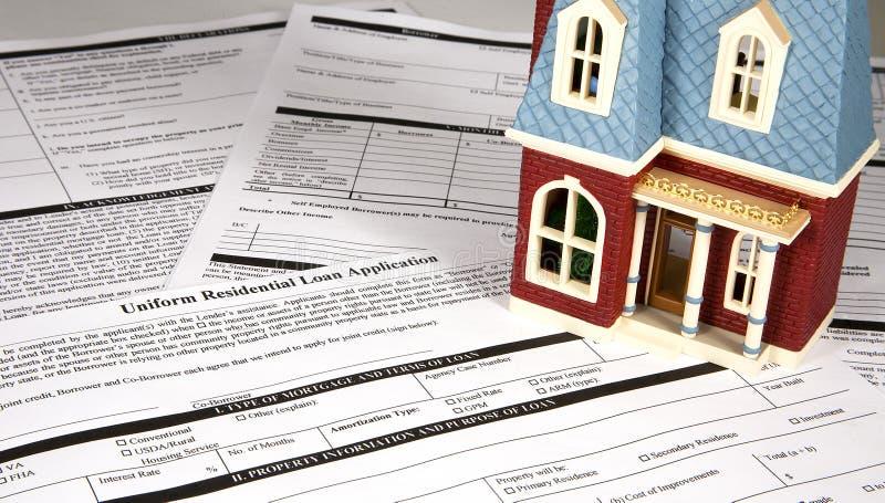 Empréstimo hipotecario fotografia de stock