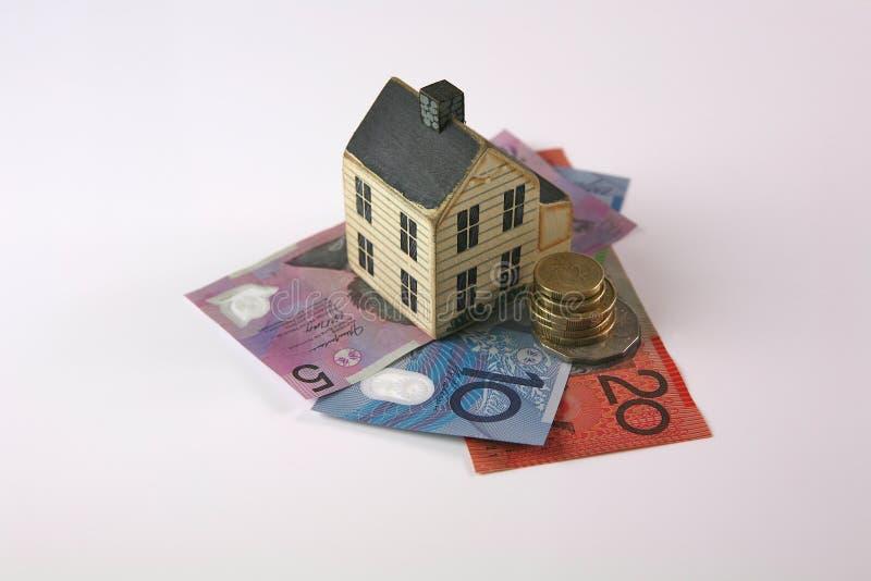 Empréstimo hipotecario com o dolor australiano foto de stock royalty free