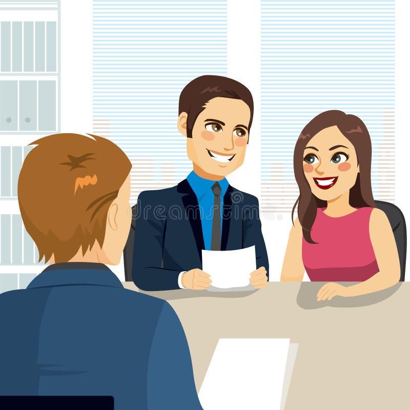 Empréstimo hipotecario dos pares ilustração royalty free