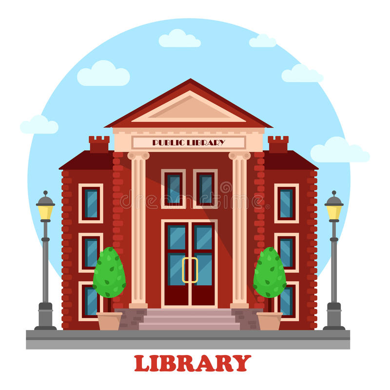 Empréstimo público ou biblioteca acadêmico, nacional ilustração stock