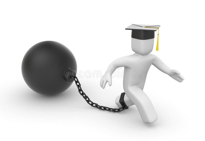 Empréstimo para estudantes ilustração stock