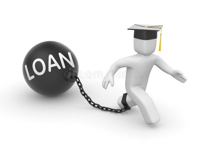 Empréstimo para estudantes ilustração royalty free