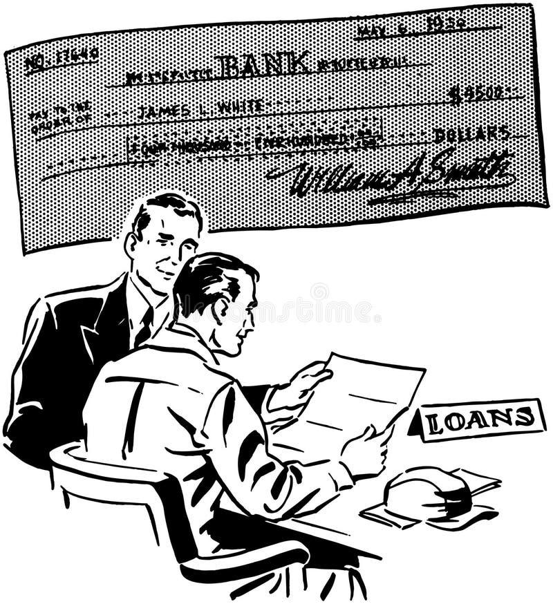 empréstimos ilustração royalty free
