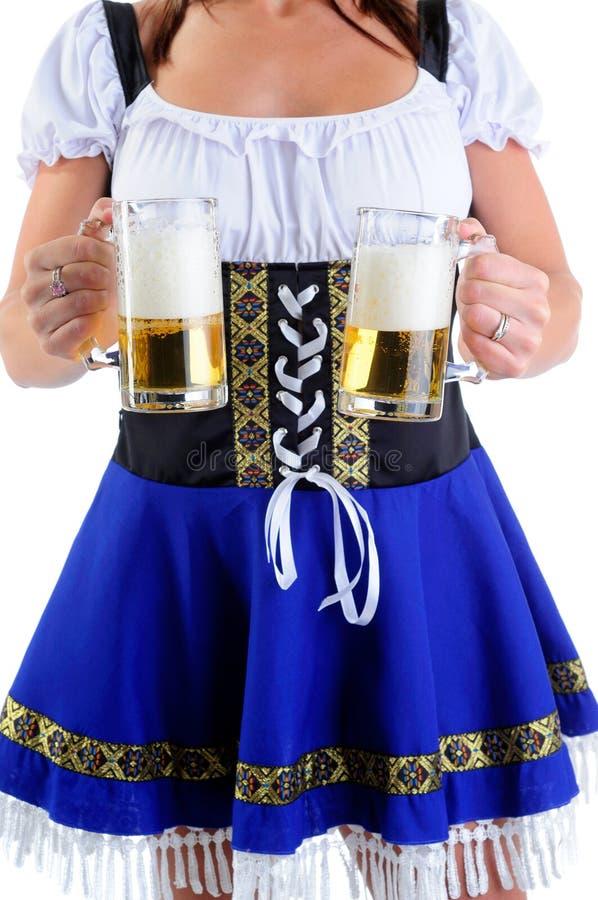 Empregada de mesa da cerveja imagens de stock