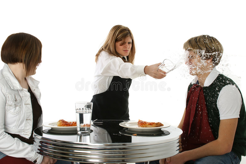 Empregada de mesa louca fotos de stock royalty free