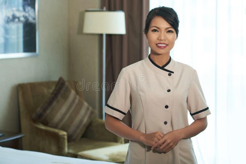 Empregada doméstica alegre imagem de stock royalty free
