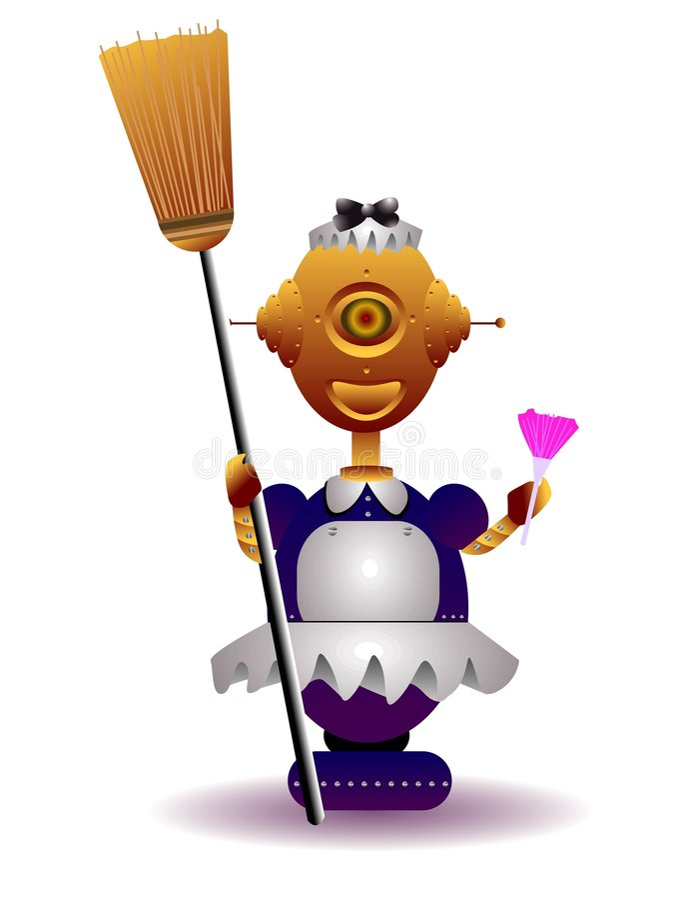 Empregada doméstica do robô ilustração royalty free