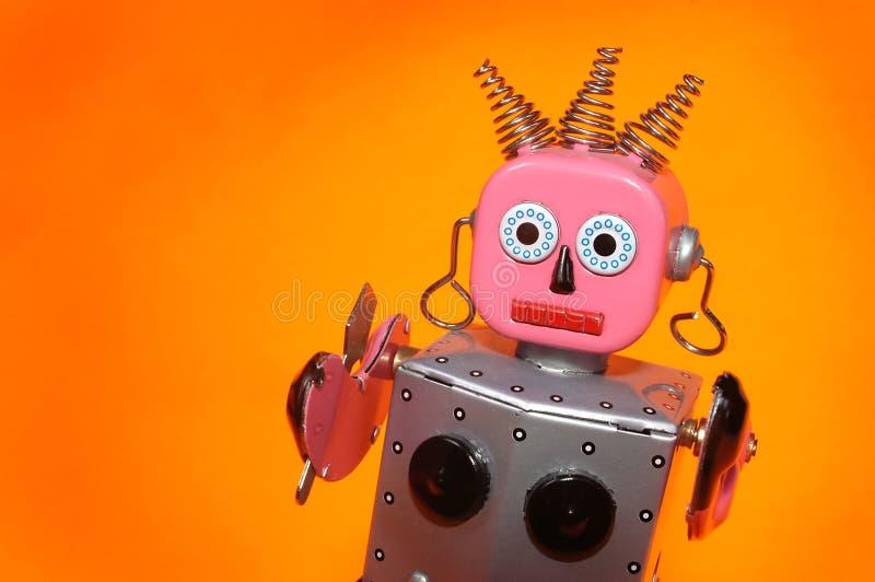 Empregada doméstica do robô do brinquedo imagens de stock
