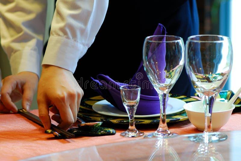 Empregado de mesa fotografia de stock royalty free