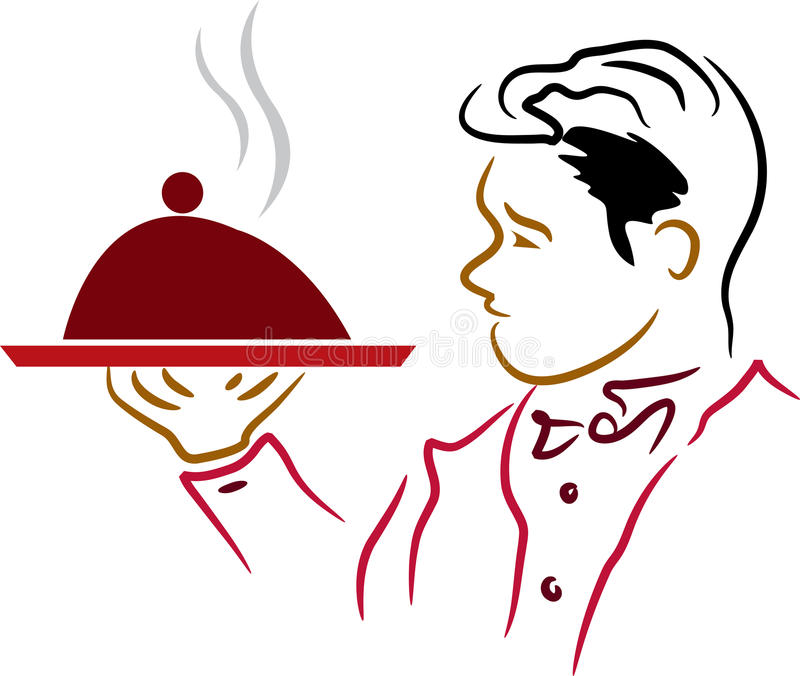 Empregado de mesa ilustração stock