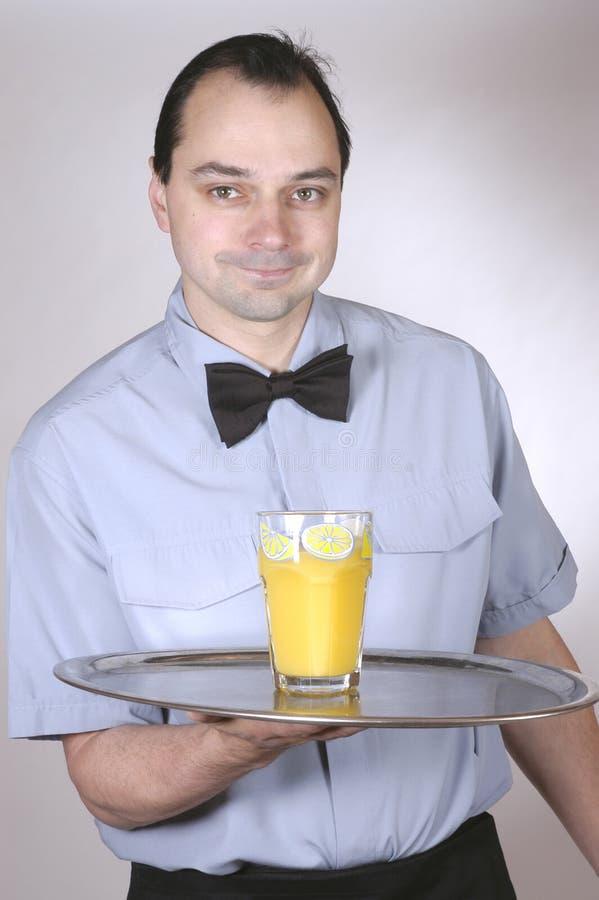 Empregado de mesa foto de stock