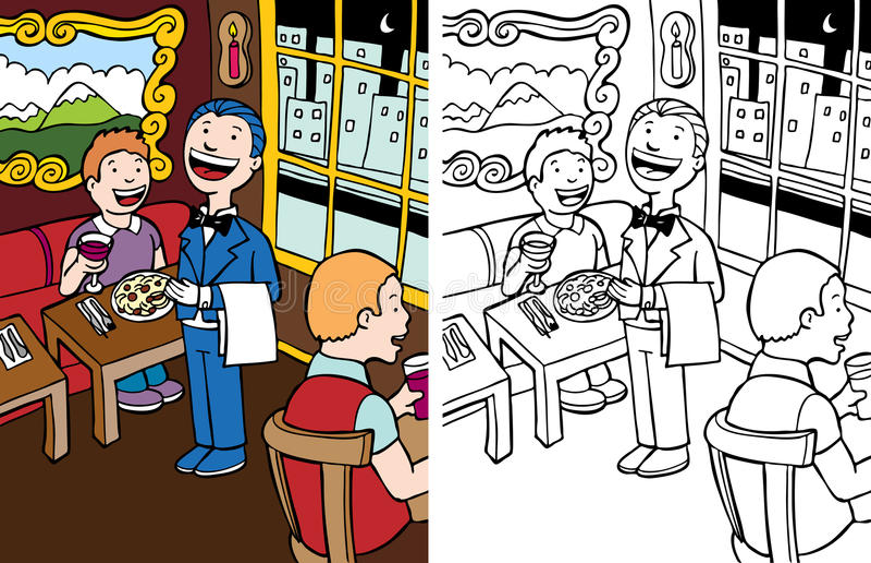 Empregado de mesa ilustração do vetor
