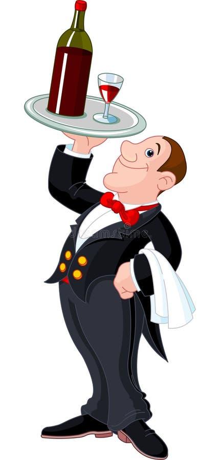 Empregado de mesa dos desenhos animados ilustração royalty free