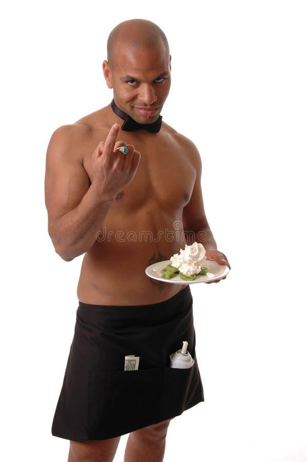 Empregado de mesa 'sexy' imagem de stock