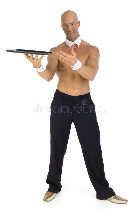 Empregado de mesa Undressed foto de stock