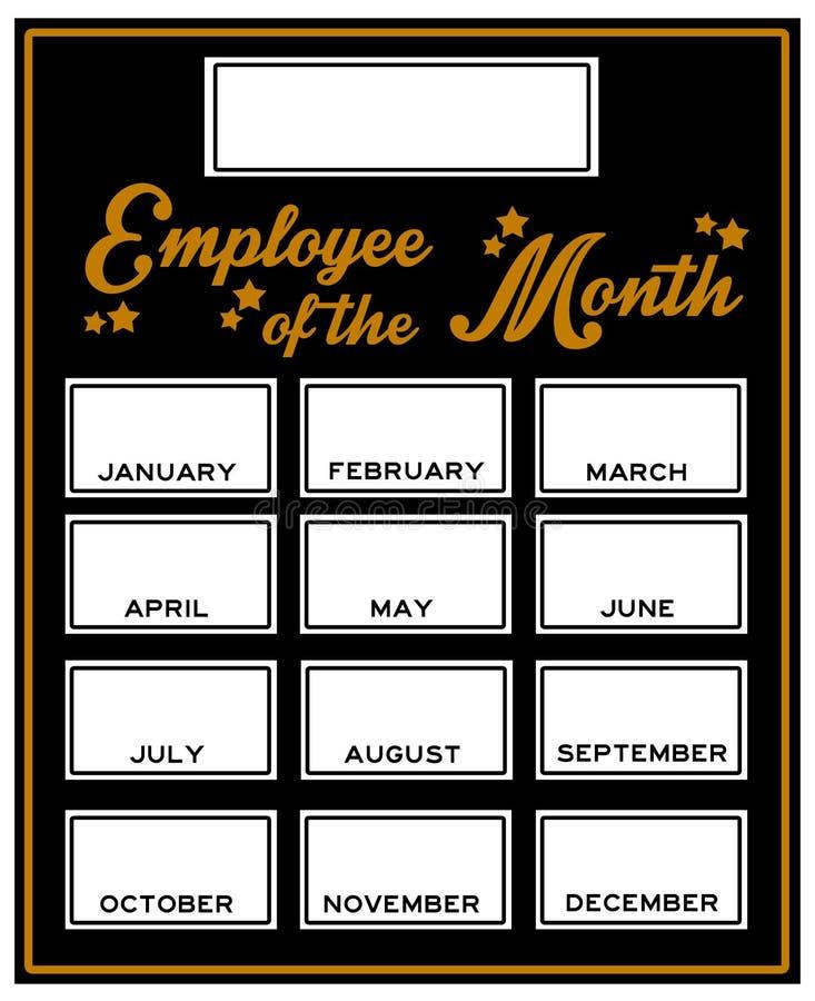 Empregado do mês ilustração stock