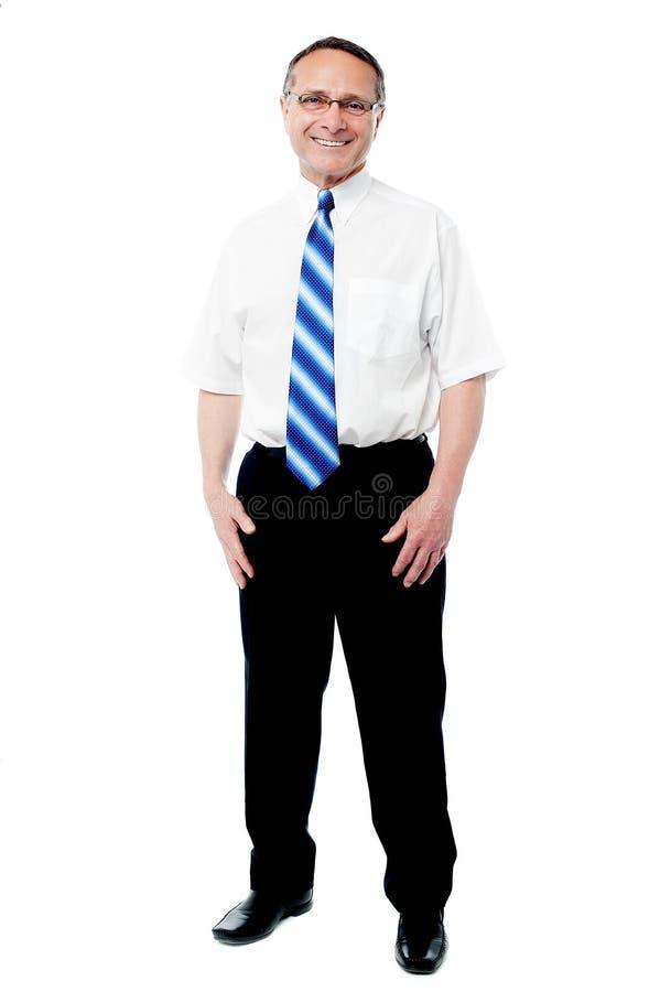 Empregado superior de sorriso fotografia de stock
