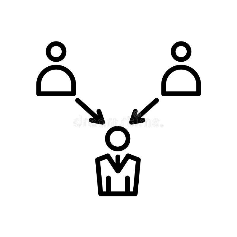 empregador do ícone bem escolhido isolado no fundo branco ilustração do vetor