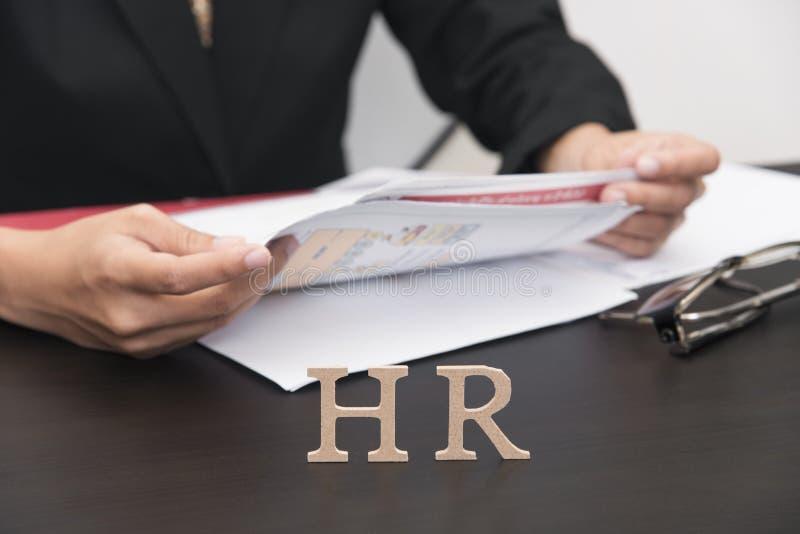 Empregador do negócio que guarda o original conceito hora e entrevista, imagem de stock royalty free