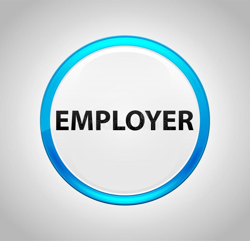 Empregador em volta da tecla azul ilustração do vetor