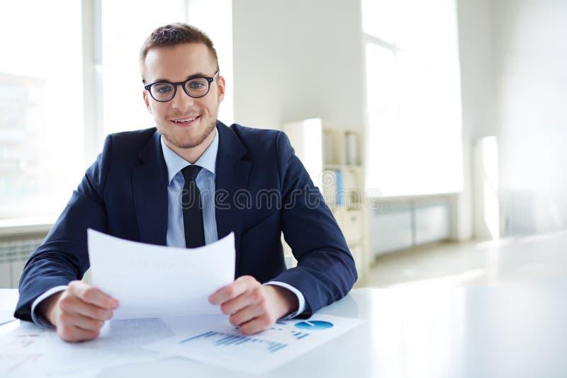 Empregador no escritório fotos de stock